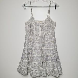 Billabong Medium Sleeveless Tiered Floral Dress